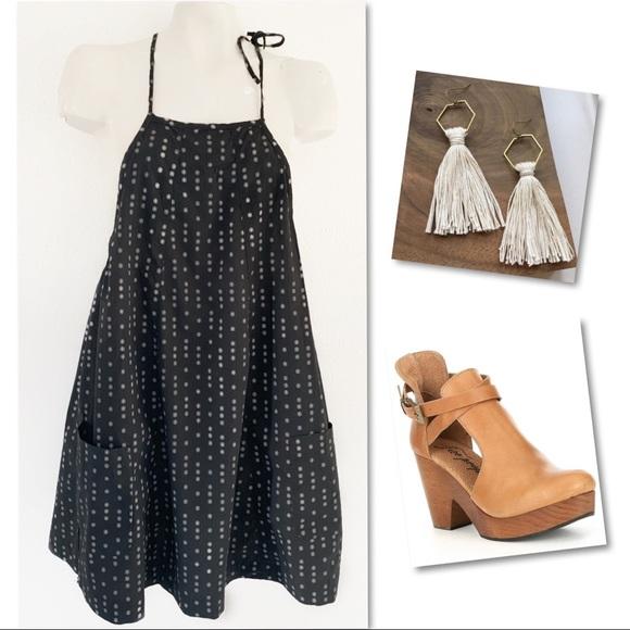 Free People Dresses & Skirts - Free people charcoal racerback  jumper dress SZ XS